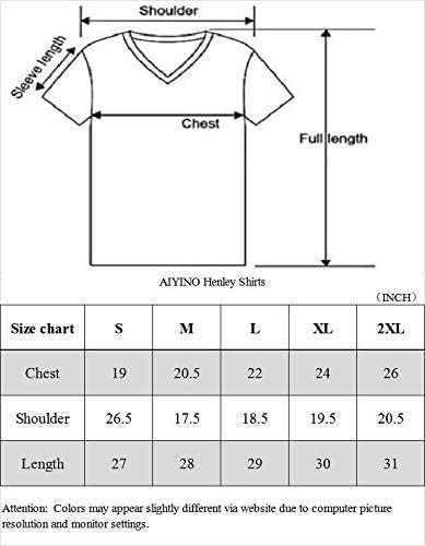 AIYINO Mens Casual Slim Fit Basic Henley Short Sleeve Fashion Designer T-Shirt