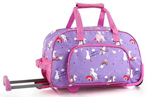 (Heys Kids 18 Inch Rolling Duffel Bag Shoulder Bag - Unicorn)