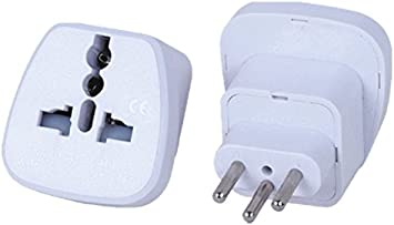 2 x Conector de Viaje/adaptador de viaje/Travel Plug/adaptador de Alemania/Europa Protección de contacto adaptador de viaje F ¨ ¹ r de Liechtenstein y Suiza tipo J: Amazon.es: Electrónica