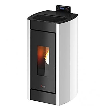Stufa a pellet 8,5 KW CADEL KRISS 3 White: Amazon.it: Fai da te