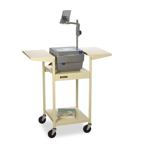 UPC 718575514135, Quartet OT39Q Adjustable Overhead Projector AV Cart, Four Shelves, 39w x 20d x 39h, Putty