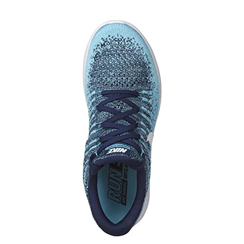 Nike Womens Lunarepic Low Flyknit 2 Scarpa Da Corsa Binary Blu / Bianco