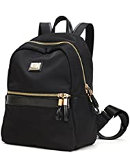 Laifu Women Casual Nylon Mini Multipurpose Backpack Schoolbag Travel Shopping,Black