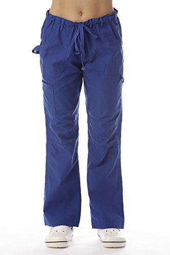 Just Love 24000PGALBLU-M Women's Utility Scrub Pants Scrubs, Galaxy Blue Utility, Medium
