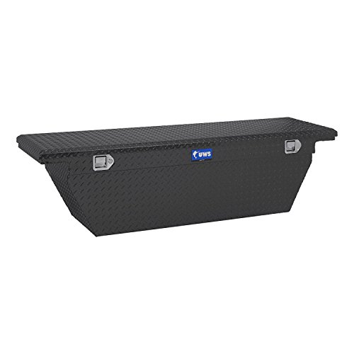 Gmc Sierra Long Box - UWS TBSD-69-A-LP-MB Low Profile Series Single Lid Crossover Tool Box L 69 in. x W 19.25 in. x H 19.5 in. Matte Black Deep Angled Low Profile Series Single Lid Crossover Tool Box