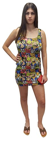 Marvel Dress Comic (Marvel Comics The Avengers Juniors Tank Style T-Shirt Dress)