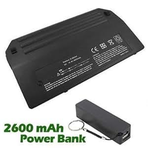 Battpit Bateria de repuesto para portátiles Compaq NX8220 - Compaq (6600 mah) con 2600mAh Banco de energía / batería externa (negro) para Smartphone