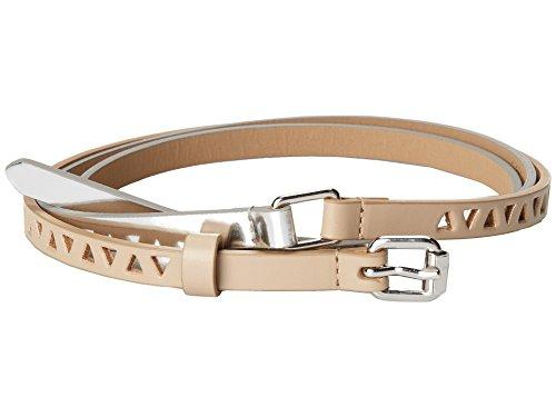 BCBG Brown Silver Double Wrap Faux Leather Belt (Large)