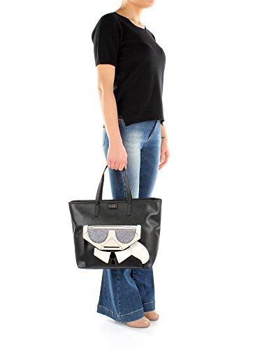 Noir Pvc Femme Sacs 66kw3091 Main Karl À Lagerfeld wHZzqZ08