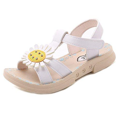 Price comparison product image Girls Sunflower Open Toe Comfort Summer Outdoor Slip On Princess Flat Sandals Shoes(Toddler/Litter Kids£