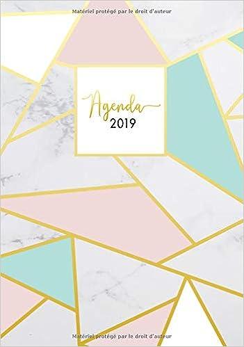Agenda 2019: Semainier simple & graphique, motif rayures ...