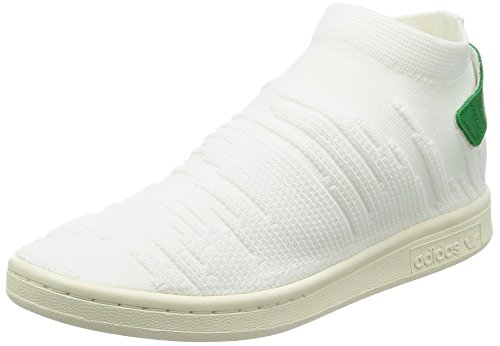 green footwear Sneakers Sock Femme footwear Basses Primeknit Adidas Smith Stan White Blanc White qFw7nZv