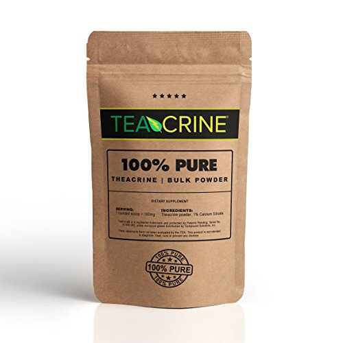 TEACRINE | Theacrine 100% Pure Bulk Powder | 100 Servings | New Stimulant Great for Energy Endurance Stamina & Focus