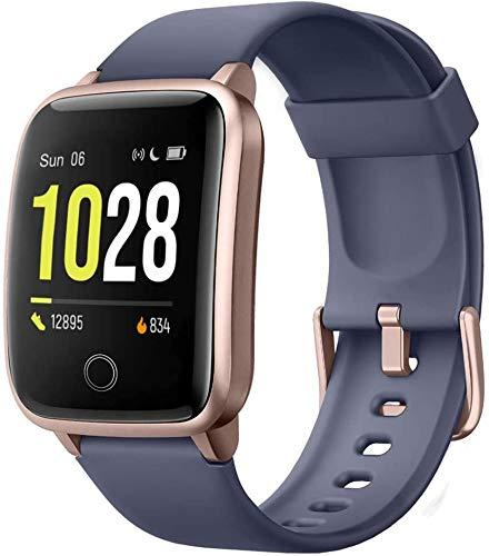 Smartwatch voor dames en heren, smartwatch voor kinderen, smartwatch met touchscreen, waterdicht, sport, stappenteller…