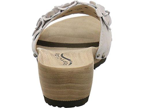 Javia Softclox 3183 Blanco para Weißgold Zuecos mujer Oro xx5BOwzr