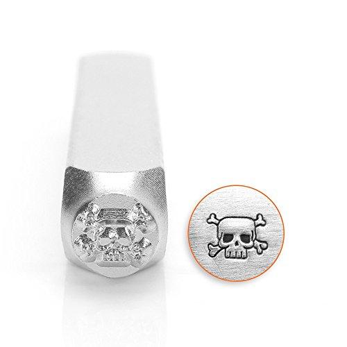 ImpressArt- 6mm, Skull & Crossbones Design Stamp (Stamp Skull)