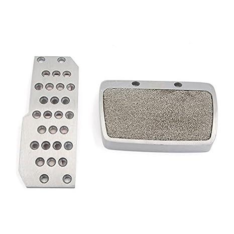 DealMux 2 piezas de plata del tono antideslizante Manual pedal del acelerador freno de embrague para el coche automático: Amazon.es: Coche y moto