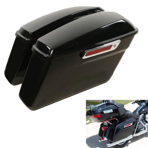 TCMT Hard Saddlebags + Latch Keys Fits For Harley Electra Road King Street Glide 2014-2019