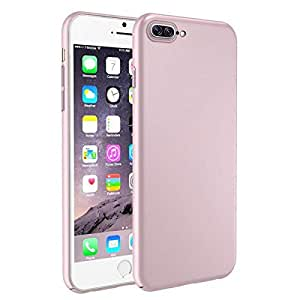 CHOETECH PC All-Cover Rubber Phone Cover Case for iPhone 7 8 (4.7 inch) - Rose Gold