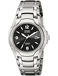 Citizen Mens Eco-Drive Titanium Watch with Date, BM6060-57F