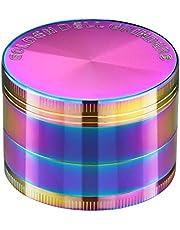 "Golden Bell 4 Piece 2"" Spice Herb Grinder - Rainbow Color"