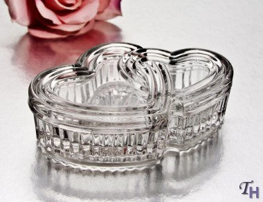 StudioSilversmiths 43859 Large Crystal Double Heart Box