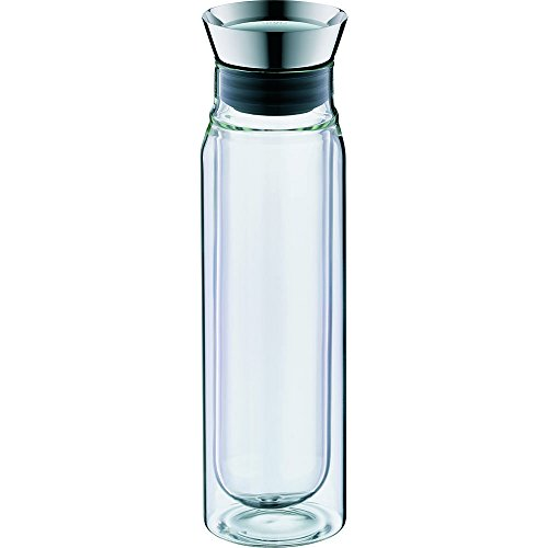 Alfi l double wall clear glass carafe pitcher water filter metallic water coolers and - Glass filtered water pitcher ...