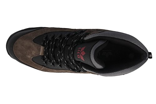 Lico - Zapatillas de senderismo de Piel para hombre Schwarz/Grau/Rot