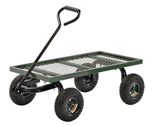 "Sandusky Lee FW Steel Crate Wagon, Green, 1000 lbs Load Capacity, 14-1/4"" Height, 38"" Length x 20"" Width"
