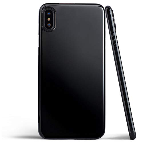 Thin iPhone Xs Max Case, Thinnest Cover Ultra Slim Minimal - for Apple iPhone Xs Max (2018) - totallee (Jet Black)