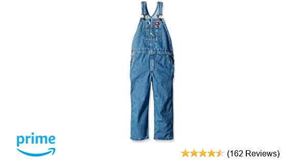 Dickies Big Boys/' Denim Bib Overall 100/% Cotton With Hammer Loop /& Tool Pockets