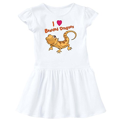 inktastic Love Bearded Dragons Infant Dress 18 Months White 28867