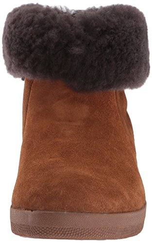 Skatebootie Chestnut Women's Shearling fitflop Ankle Boot Suede qz5xnx0
