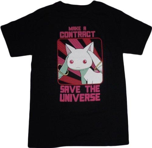 Puella Magi Madoka Magica: Kyubey Make a Contract T-Shirt