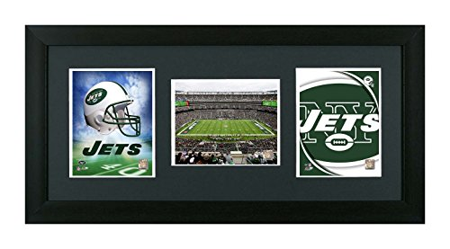 NFL. New York Jets Framed New York Jets NFL 3 In 1 Showcase, Field, Helmet & Logo by Skyway Gallery
