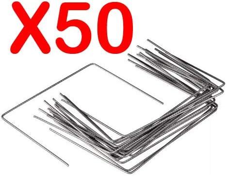 Lot de 50 Agrafes de Fixation M/étal pour Toile de paillage ou g/éotextile avec Pointes biseaut/ées 20cmX20cmX20cm