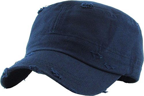 Fatigue Style Hat - KBETHOS KBK-1466 Nav Pure Cotton Twill Adjustable Cadet GI Hat by