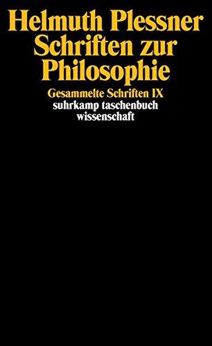 Gesammelte Schriften in zehn Bänden: IX: Schriften zur Philosophie (suhrkamp taschenbuch wissenschaft) Taschenbuch – 17. März 2003 Helmuth Plessner Suhrkamp Verlag 3518292323 Epistemologie