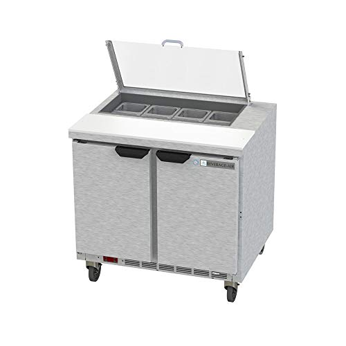 - Beverage Air SPE36HC-08-CL Elite Series Clear Lid Sandwich Top Refrigerated Counter, 36