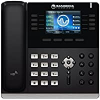 Sangoma S500 4 SIP Line HD Color LCD VoIP PoE Phone LAN WAN + Power