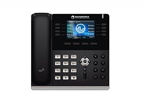 (Sangoma S500 4 SIP Line HD Color LCD VoIP PoE Phone LAN WAN + Power)