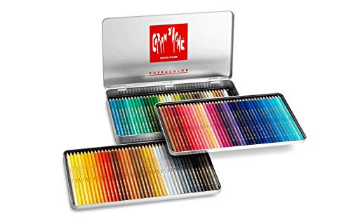 Caran D'ache Supracolor Pencil Set, 120/Tin (J3888420) (Caran D Ache Museum Aquarelle Pencils Review)