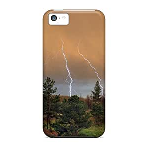 5c Scratch-proof Protection Case Cover For Iphone/ Hot Summer Storm In The Forest Phone Case by lolosakes