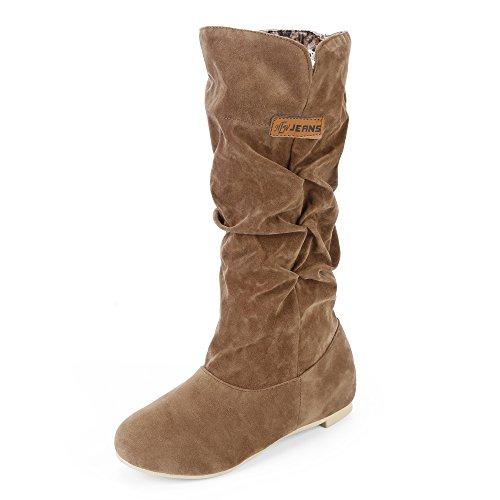 Winterschuhe Outdoor Yellow Lined Boots Winter Warm Womens Autumn JOYORUN wqRXBgg