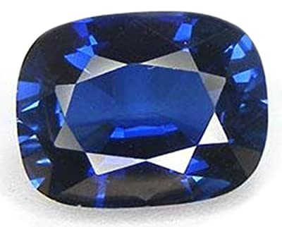 Blue Lab Sapphire Cushion Ovalish Facet Unset 14mm X 10mm from uGems