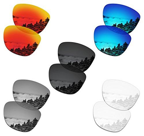 SmartVLT Set of 5 Men's Replacement Lenses for Oakley Frogskins Sunglass Combo Pack ()