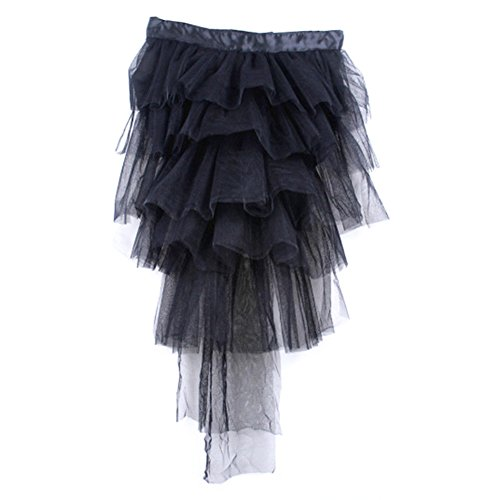 Womens Half Bustle Tulle Tutu Skirts Burlesque Chemise Clubwear Rave Party Dress -