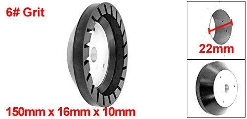 DealMux 150 mm x 16 milímetros x 10mm 6 # Grit alumínio base de vidro Resina abrasivo roda