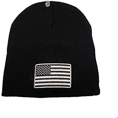 Amazon.com  Pin And Patch Man Black Tactical Beanie (Subdue Flag) USA Flag  Embroidered Winter Beanie Skull Cap Hat WCAP002  Sports   Outdoors 10ef4e1de76