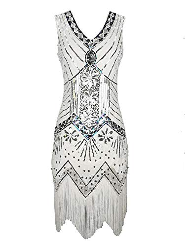 Womens Adult Sparkle 20s Vintage Flapper Gatsby Dress